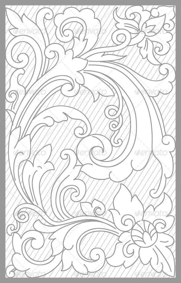 Surakarta Floral Set - Decorative Vectors