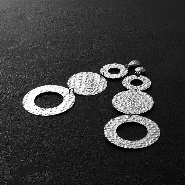Silver circles Earings