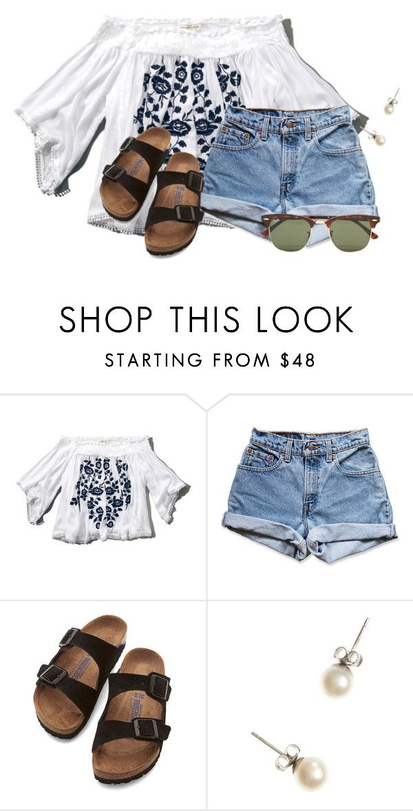 """~Bohemian Rhapsody~"" by flroasburn on Polyvore featuring Abercrombie & Fitch, Levi's, Birkenstock, J.Crew and Ray-Ban"