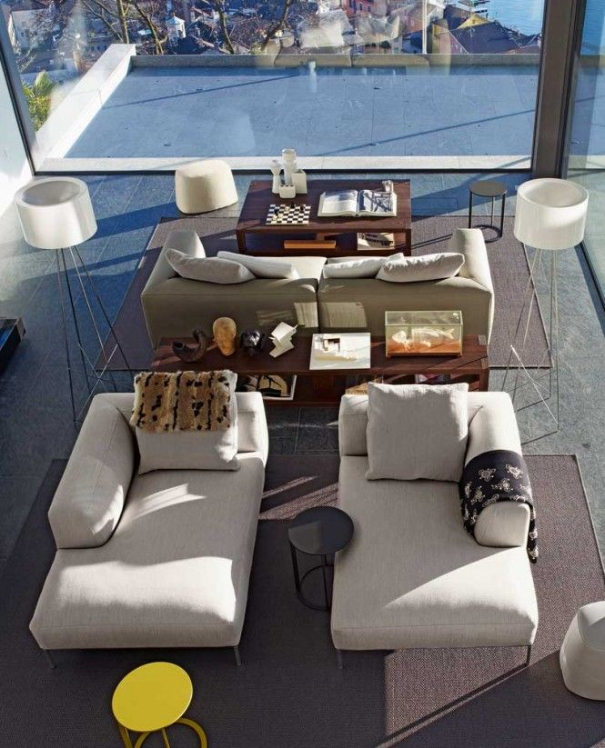 Pairing furniture pieces and accessories provides easy impact.