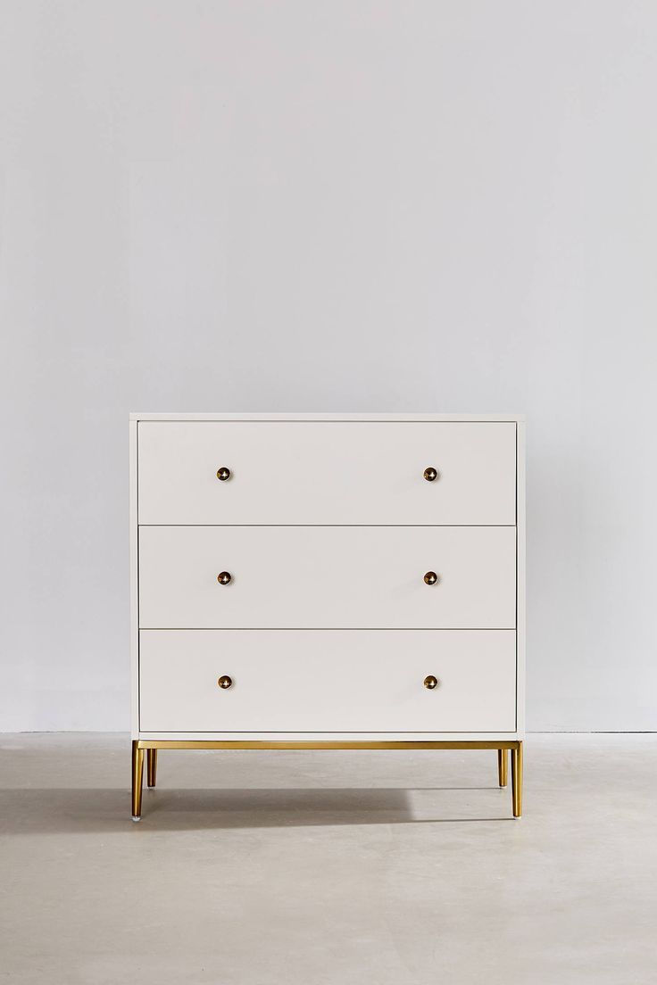 Cleo 3 Drawer Dresser Cheap Bedroom Furniture Small White