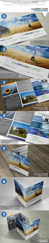 клипарт Макет для презентации брошюры. Square Bi-Fold Brochure Mock-Up