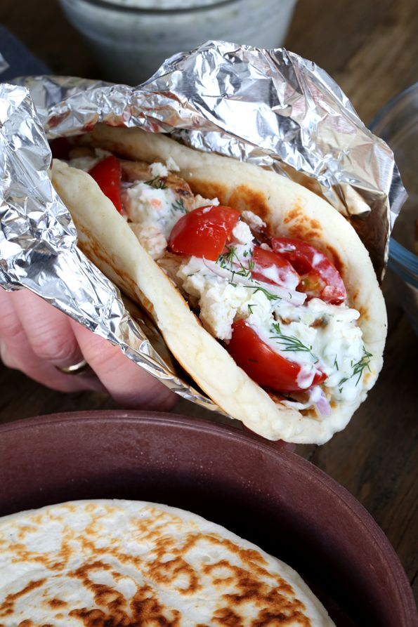 Gluten Free Chicken Gyros - Gluten-Free on a Shoestring - will buy that cookbook just for the naan recipe. I love naan.
