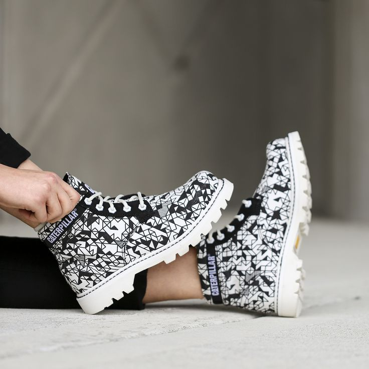 What a team Caterpillar Footwear & Camille Walala make... These new graphic print boots are amazing! http://www.shoeconnection.co.nz/products/CTWBSS5L3A0