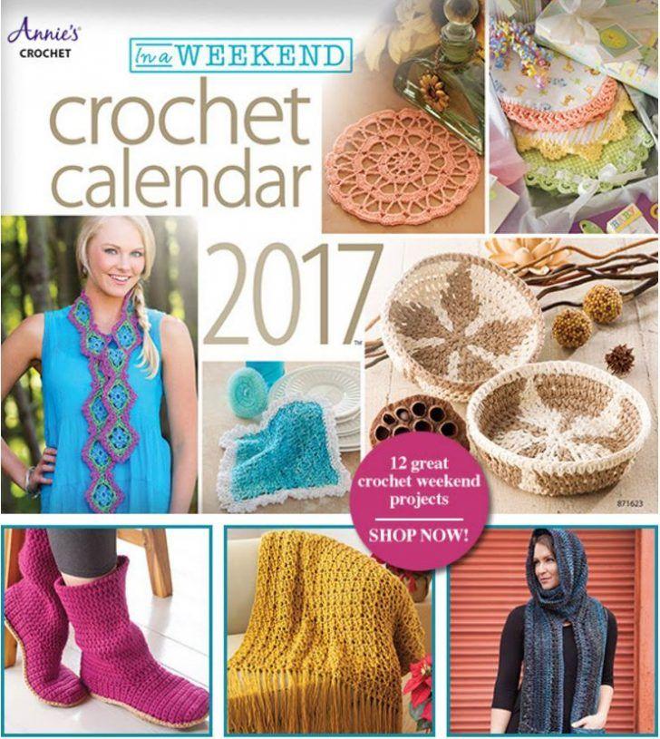 "Annie's ""In a Weekend"" Crochet Calendar for 2017!   #pattern #diy #crafts…"
