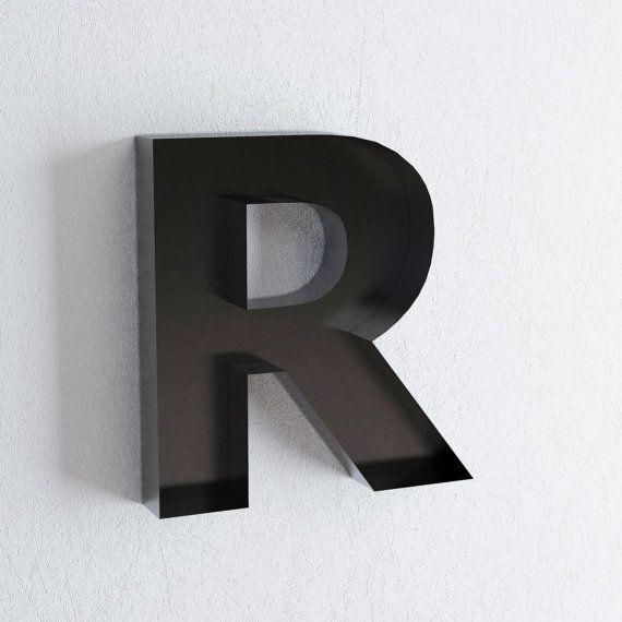 r sign metal letter wall decor metal letters. Black Bedroom Furniture Sets. Home Design Ideas