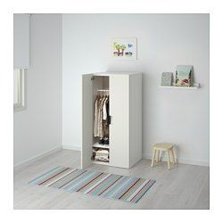 STUVA Combinaison rangement portes, blanc, blanc - 60x50x128 cm - IKEA