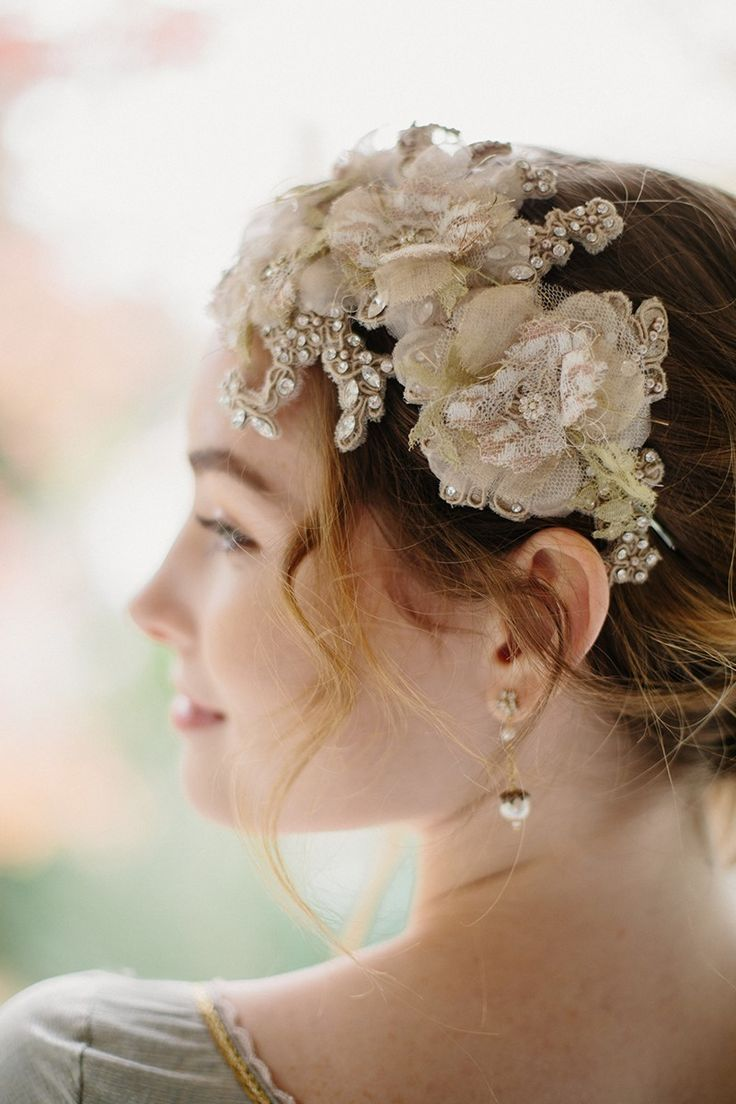 Feather coal hair accessories emily kent wedding hair bridal musings - Lace Bridal Hair Accessory From Erica Elizabeth Designs