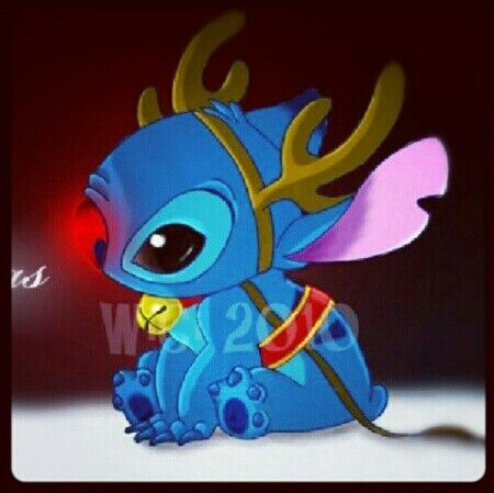 Stitch The Red Nosed Reindeer To Cute Pinterest