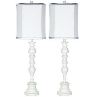 Abbyson Alexis White Spiral Shape Table Lamp (Set of 2) | Overstock.com Shopping - The Best Deals on Lamp Sets