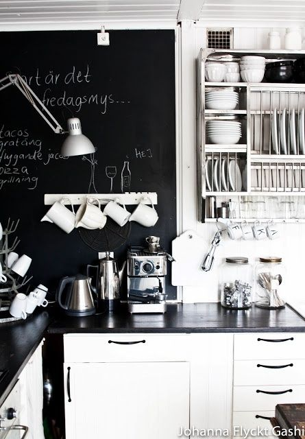 Décor inspiration loves - blackboards wherever you can find a space