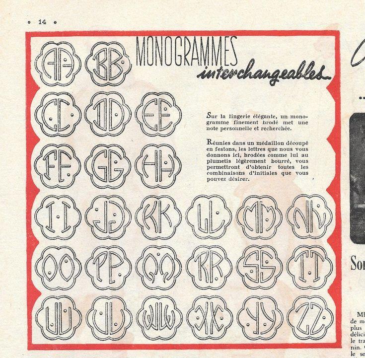 17 meilleures id es propos de lettres de broderie la main sur pinterest points de broderie - Apprendre a broder des lettres ...