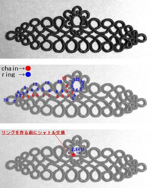 Bracelet [Tatting] flower motif how to make [blade] | knitting | knitting, handicrafts, sewing | Atelier