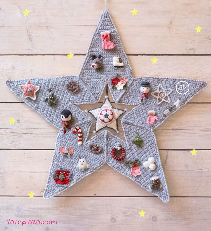 Advent Star CAL - Join the latest Christmas Crochet Along and crochet your own Advent Star with cute decorations! All patterns are available for free!
