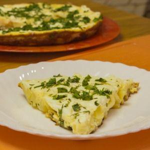 Омлет с картофелем и мягким сыром