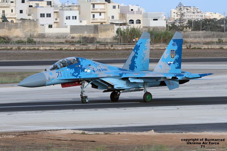 https://flic.kr/p/MG1CMo | 71 LMML 23-09-2016 | Airline: Ukraine - Air Force Aircraft: Sukhoi Su-27UB Flanker C Registration: 71 CN: 96310424043
