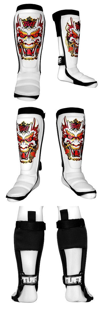 Shin Guards 179782: Tuff Boxing Muaythai Mma Hybrid Shinguards Tuf-Sg-Dragon-Wht -> BUY IT NOW ONLY: $78 on eBay!