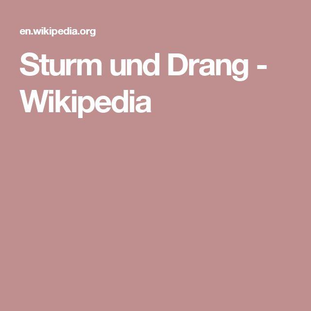 Sturm und Drang - Wikipedia