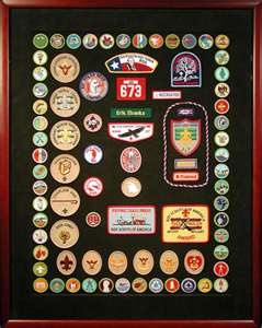 Eagle scout badges - should do something with my GS badges...