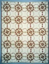 "1885 - 1895 Mary Harris's ""Butter and Eggs"" Quilt"