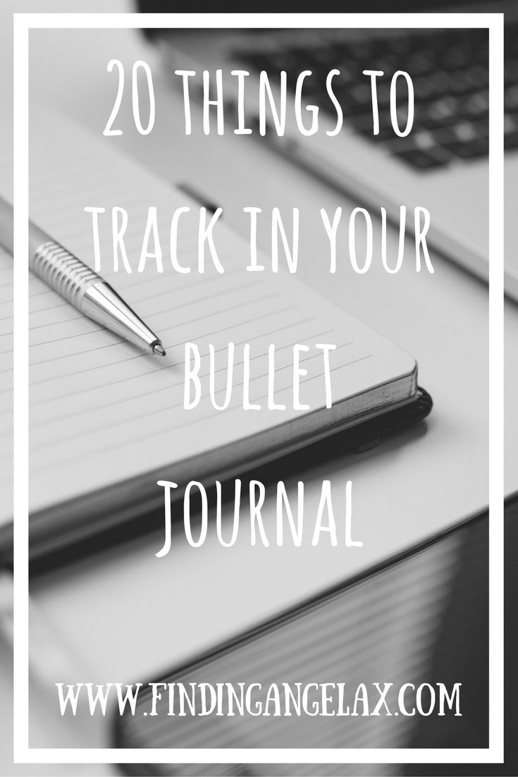20 awesome trackers you can add to your bullet journal!
