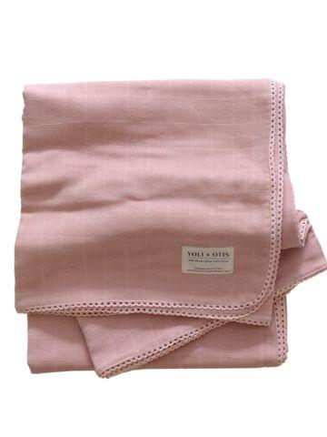 Yoli and Otis Artesian Blanket in Tea – Salt Living or online at www.saltliving.com.au #saltliving #yoliandotis #organic #baby #blanket