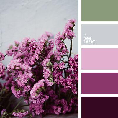 белый и серебряный, болотный, бордовый, зеленый, оттенки розового, подбор цвета, серебряный, серый, сиреневый, темно-бордовый, фиолетовый, цвет сирени, цветовое решение для дизайна.