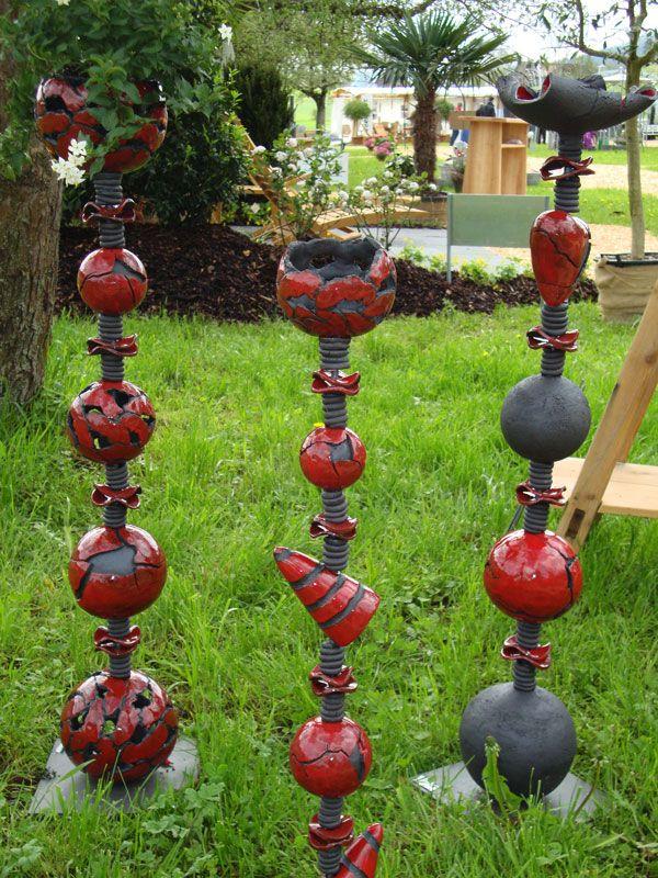 Bildergebnis für stelen aus ton | Gartenkeramik, Keramik ...