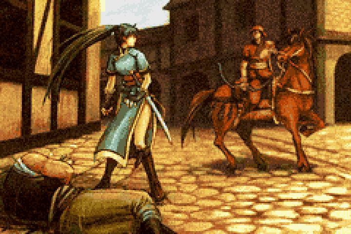 Lyn encounters Rath. (OTP) If you're wondering why this is super bad quality, it was originally on a GBA screen. lol