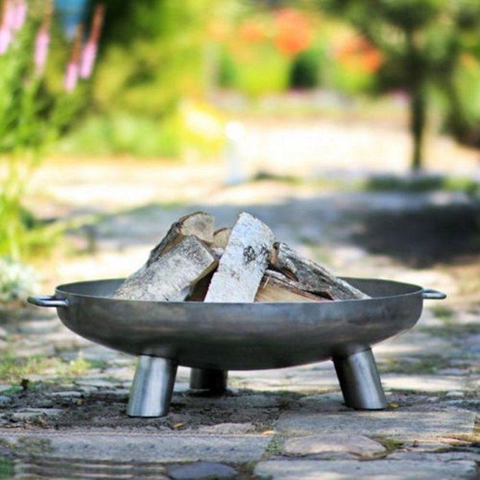 Large Steel Outdoor Garden Bowl Patio Fire Pit 80cm BBQ Log Burner