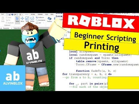 4) How To Script On Roblox For Beginners - Printing and