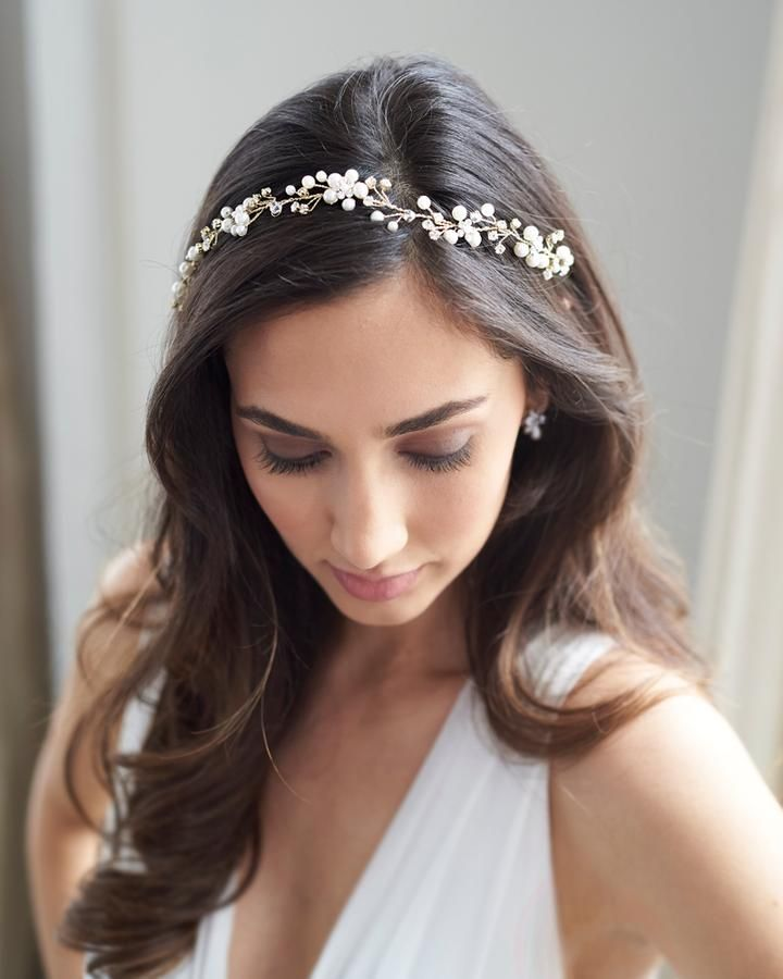 Shop Hair Vines For Your Wedding Hairstyle Bridal Hair Vine Offers A Botanical Design Complete With Hand Wedding Hair Down Wedding Hair Inspiration Hair Vine