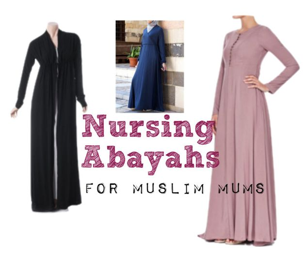 Abayahs Abayas Jilbabs for easy nursing or breastfeeding