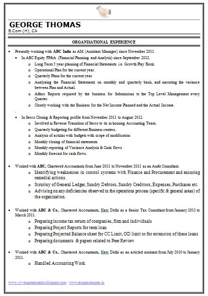 sample resume format in word download