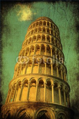 Pisa - tower on a green background with antique. #landmark #holiday #symbol #holiday #art #tourist #tower_of_pisa #building #city #background #europe #business #school #square #italy #tuscany #pisa #basilica #architecture #Italy #cathedral #tower #tuscany #angels #architecture #miracle #travel #bell #microstock #marketing #webdesign #design #SEO #NYC #dome #europe #tourism #travel #dome #pendant #church #marble #italian #tower #cherubs #old #antique #vintage #retro #aged #urban