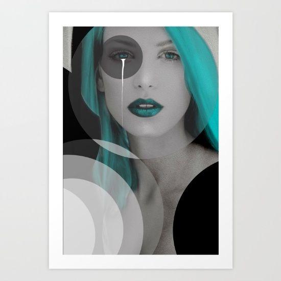 Blue+Angel+Art+Print+by+Müge+Başak+-+$15.60