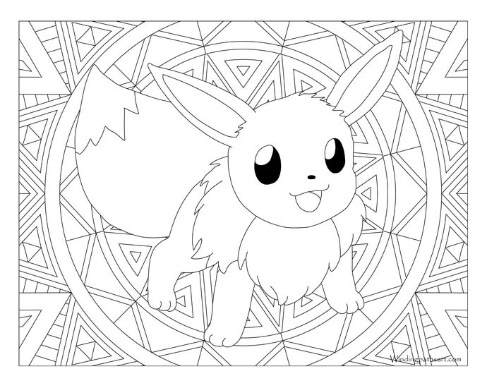 Adult Pokemon Coloring Page Eevee