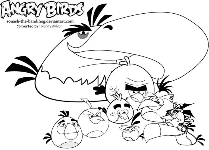 62 best Theme -Angry birds images on Pinterest | Coloring books ...