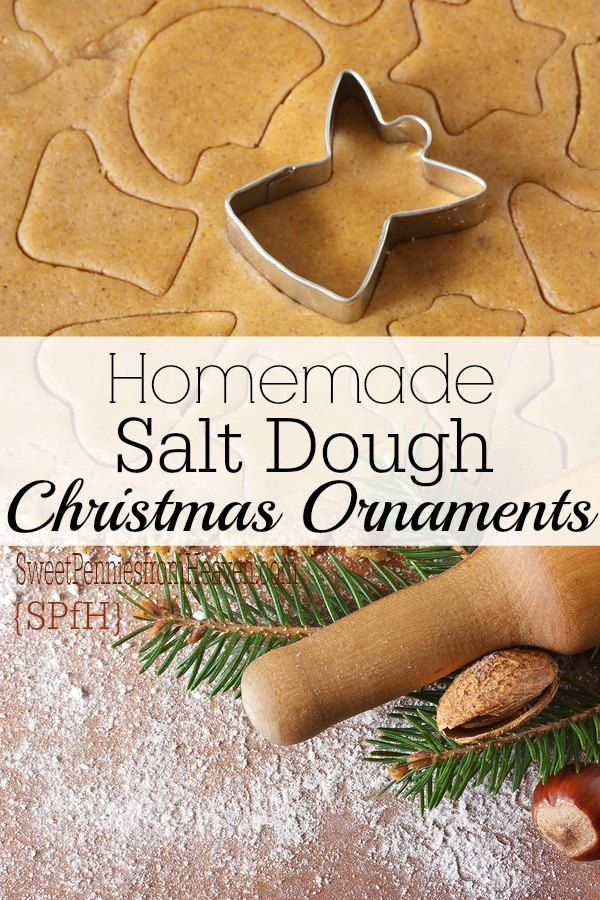 Are you looking for an easy and fun way to make homemade Christmas ornaments? This salt dough recipe cannot BE any easier! The kids love making these every year!! They're so simple to make, and you probably have everything you need to make them right now! (Homemade Christmas Kids)