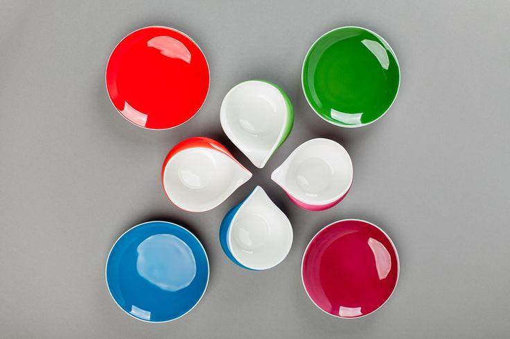 Colorful porcelain cups Dorota Kolorowe filiżanki Dorota