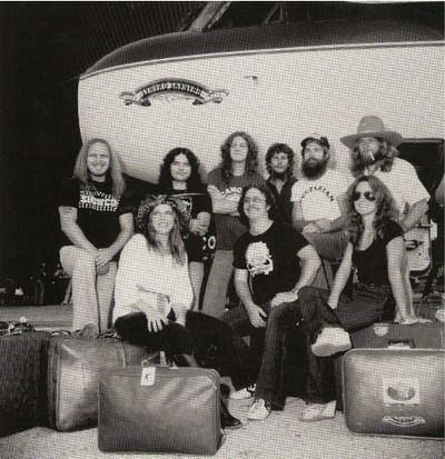 | Ronnie Van Zant, Steve Gaines, Cassie Gaines, assistant road manager ...