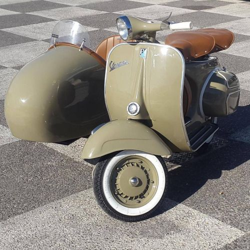 scooterscene:  Classic Vespa and sidecar – Margaret Carey