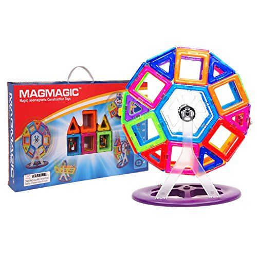 MAGMAGIC 46PCS Construction Building Toy Intelligence Mega Block Magnetic Smart DIY Toys Kit ** Visit the image link more details.