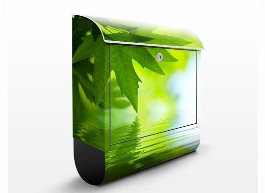 Designer Briefkasten Postkasten Sonniges Wiesengrün
