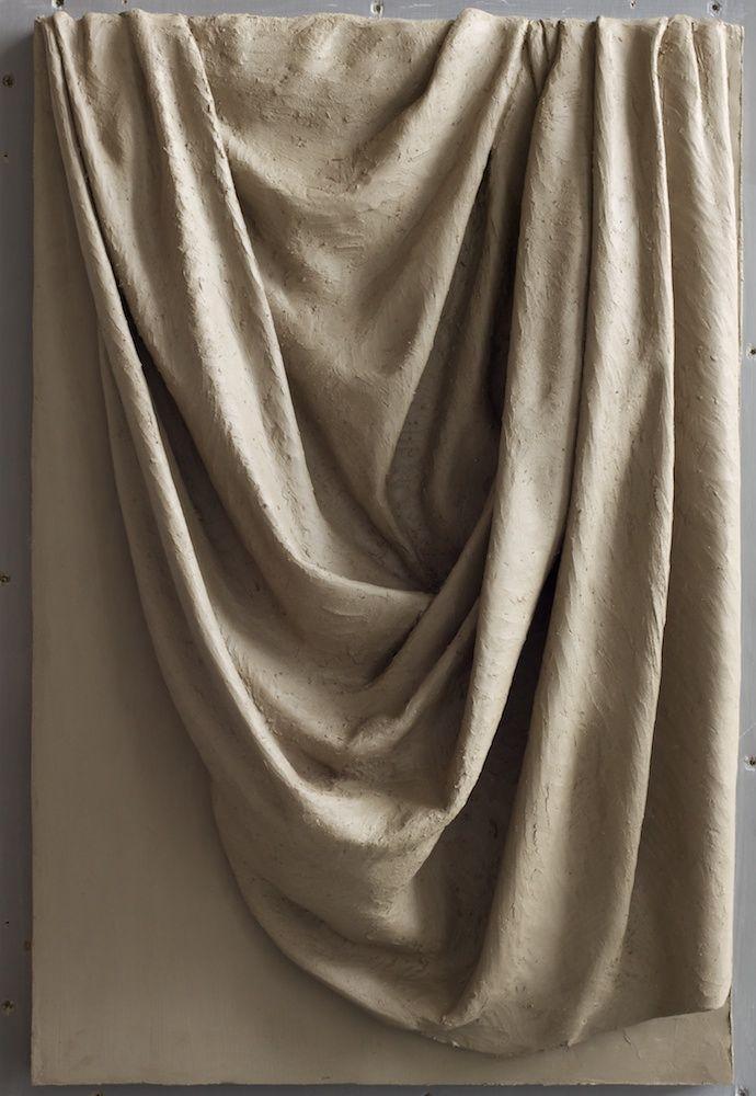 drapery no. 1; 27 inches tall drapery study from life. clay.