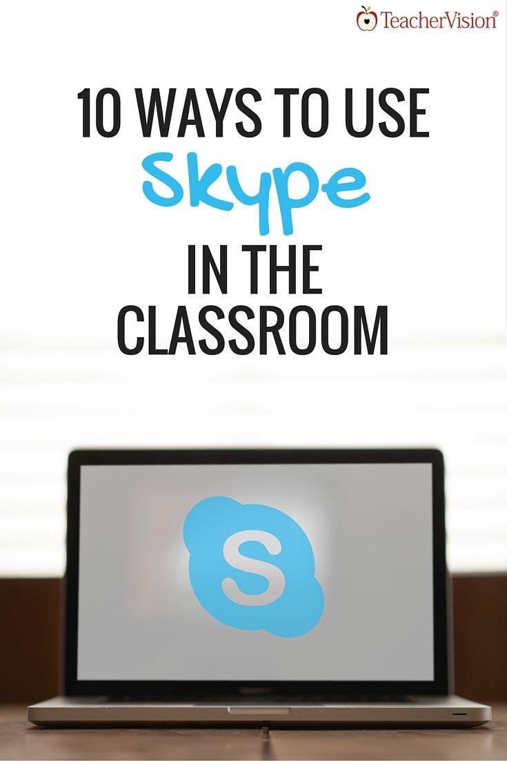 Top 10 Ways to Use Skype in Your Classroom (Grades K-12) https://www.teachervision.com/educational-technology/new-teacher/71582.html?utm_content=buffer5bd43&utm_medium=social&utm_source=pinterest.com&utm_campaign=buffer #edtech #k12