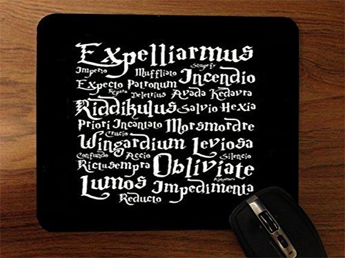 Trendy Accessories Magic Spells Quotes Design Print Image Desktop Office Silicone Mouse Pad available at https://www.amazon.com/dp/B017NRFE6M #mousepad #siliconemousepad #customizedsiliconemousepad #computeraccessories #laptopaccessories #desktopaccesories #officewareaccessories #magicspellsquotes #tadesigns