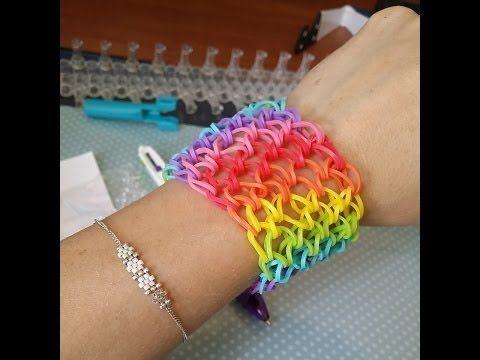 81 best images about rainbowloom modele en francais on pinterest loom porte clef and loom bands - Comment faire des bracelets en elastique ...