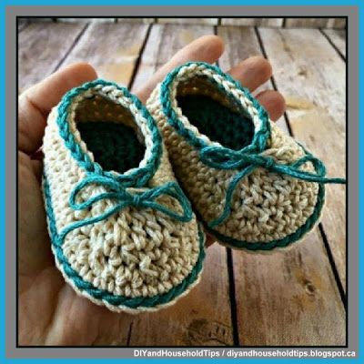 DIY And Household Tips: Basic Crochet Baby Booties (FREE PATTERN)