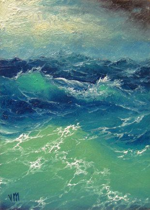"""364 - """"Black Sea in the Storm"""", 16""""x 20""""  Gallery Wrap Canvas Giclee print"""